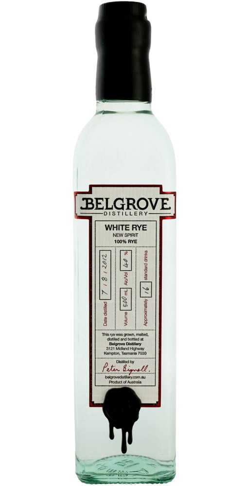 Belgrove Distillery White Rye 40% - 500ml