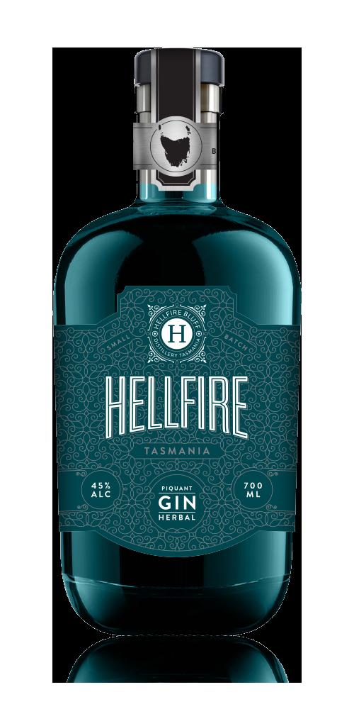 Hellfire Tasmania Piquant Herbal Gin 45% - 700ml