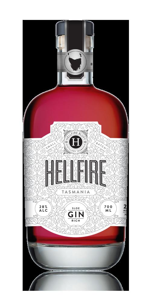 Hellfire Tasmania Sloe Gin 28% - 700ml