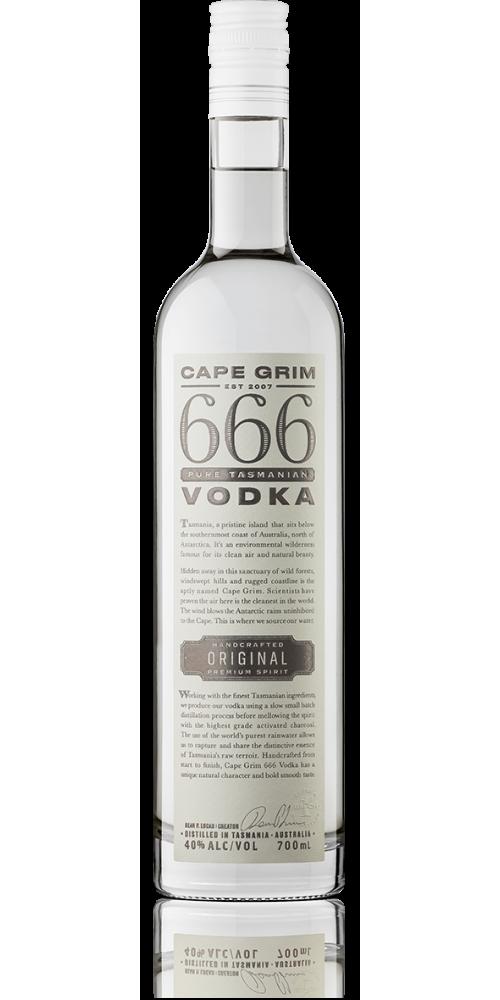 666 Pure Tasmanian Vodka 40% - 700ml - LIMITED