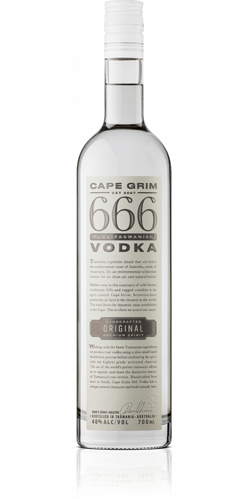 666 Pure Tasmanian Vodka 40% - 700ml
