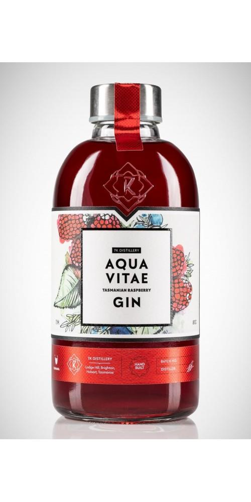 7K Distillery Aqua Vitae Tasmanian Raspberry Gin 30% - 725ml